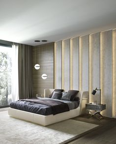 The impact of bedroom furniture will make you have a good night's sleep. Let's face it, and a modern bedroom furniture design can easily make it happen. Modern Bedroom Furniture Sets, Stylish Bedroom, Contemporary Bedroom, Home Decor Bedroom, Bedroom Sets, Furniture Vintage, Furniture Layout, Contemporary Furniture, Furniture Ideas