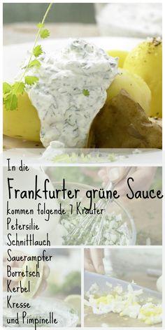 Frühlingsfrischer kulinarischer Evergreen, den schon Goethe schätzte: Frankfurter Grüne Sauce – smarter mit Pellkartoffeln | http://eatsmarter.de/rezepte/frankfurter-gruene-sauce-smarter