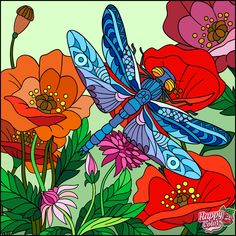 via Happy Color App for iPad Pebeo Porcelaine 150, Drawing Stencils, Glass Bottle Crafts, Coloring Apps, Coloring Book, Faux Stained Glass, Art Drawings For Kids, Butterfly Art, Butterflies