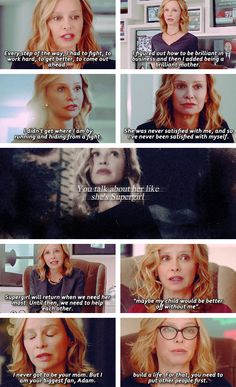 "Cat Grant: ""Well, in some ways, she is.""  #supergirl"