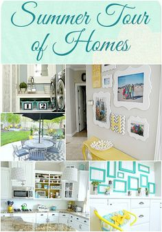 My home tour - grey, white, yellow and turquoise.