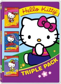 Hello Kitty Triple Pack (goes to the movies, saves the day, plays pretend) DVD ~ Hello Kitty Triple Pack, http://www.amazon.com/dp/B004FPXMJC/ref=cm_sw_r_pi_dp_B7fOtb03QKMR0  $5.98 Great stocking stuffer