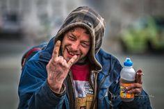 Bart - Knocking on Heavens Door Street Portrait, Heavens, Knock Knock, Drink Bottles, Portraits, Drinks, Drinking, Beverages, Heaven