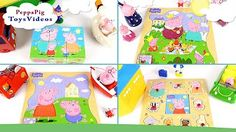 Peppa Pig Muddy Puddles Family at Playground - YouTube