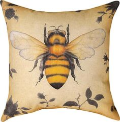 Insects Bee Indoor/Outdoor Pillow