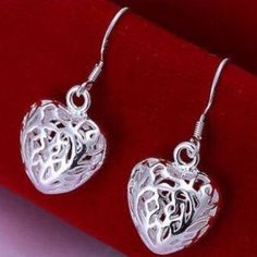 SOLD - .925 SS Filigree Puff Heart Earrings .925 Sterling Silver Filigree Puff Heart Earrings. These Earrings match the Necklace and Bracelet I also have listed in my closet. Bundle them all for a discount. Jewelry Earrings