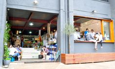 Window  seat idea for summer...Sourced Grocer, Teneriffe. Amazing coffee shop + green grocer business.