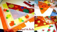 Mantones de papel de Seda para decorar tu caseta de la Feria de Abril: http://www.manualidadesinfantiles.org/mantones-de-papel-de-seda