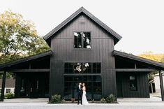 Beautiful examples of modern farmhouse black. We're Painting Our House Black! - Krista Gilbert