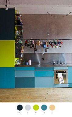 colourful kitchen