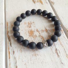 Self Confidence - Genuine Matte Black Onyx Bracelet - Positive Energy