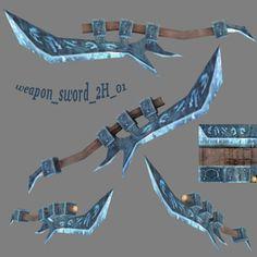 3d fantasy sword weapon 2h