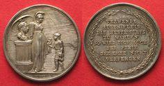 1820 Haus Habsburg - Medaillen FRANZ I. Fleiss Medaille ca.1820 v. Heuberger Silber 32mm # 94078 f.st