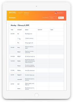 Automate your Speech Therapy Training. Make planning your sessions easy & automatic. View your schedule on any device. Never forget a goal again.>> The schedule allows you to see all of your student's goals for the next few weeks on a single page. #slp #speechtherapy