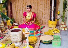 Bridal shower is an auspicious ceremony that takes place in Indian as part of Wedding rituals. India it is referred as Haldi Ceremony and Turmeric ceremony in different states of India. Marriage Decoration, Wedding Stage Decorations, Flower Decorations, Indian Marriage, Haldi Ceremony, Wedding Rituals, Bridal Poses, Indian Wedding Photography, Wedding Crafts
