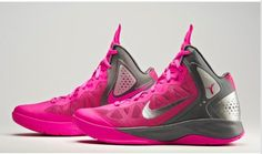 Pink basketball nike shoes