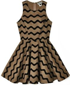 Tan Waves Tennis Dress- I wish I could only wear dresses... wait, WHY CANT I??