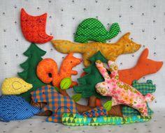Big Meadow Set - Little Softies sewing pattern. via Etsy.