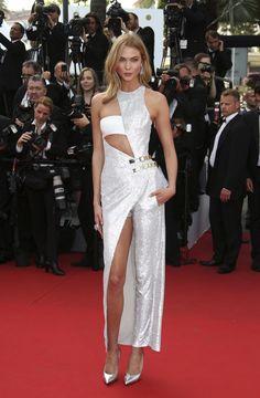 Cannes Film Festival 2015: All of the Best Red Carpet Dresses - Karlie Kloss in Atelier Versace | StyleCaster