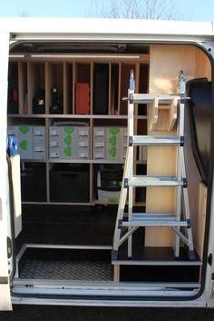 119 best van racking images tool storage van storage van shelving rh pinterest com