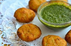 Aaloo Tikkis- Creamy mashed potatoes seasoned with cumin seeds, fresh cilantro, green chilly and bread to bind. It is then deep fried until golden brown. Perfect appetizer!