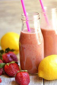 Strawberry Banana Green Smoothie | Recipe | Strawberry Banana ...