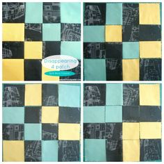 Disappearing 4 Patch quilt block tutorial | patchwork posse...The steps are just a little bit different, but the idea is the same. You begin with a 4 patch… cut it right up {that totally is hard sometimes!} and play with the layout.