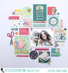 Still feeling Whimsical - Pink Paislee. - Hey Little Magpie Scrapbook Layout Sketches, Scrapbook Albums, Scrapbooking Layouts, Paper Crafts Magazine, Hip Kit Club, Handmade Birthday Cards, Handmade Cards, Heartfelt Creations, American Crafts