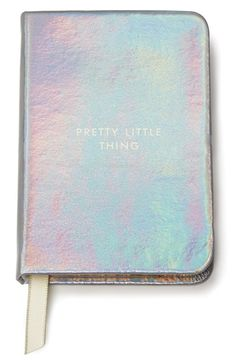 Free shipping and returns on kate spade new york 'pretty little thing' mini notebook at Nordstrom.com. Sized for carrying anywhere, this little notebook will become home to lots of big ideas. An embossed metallic cover and satin placeholder add glamorous oomph to your notes and to-dos.