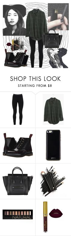 """Untitled #51"" by jojois543 ❤ liked on Polyvore featuring Peace of Cloth, Madewell, Dr. Martens, Gooey, Forever 21 and Bobbi Brown Cosmetics"