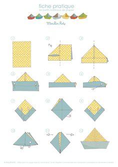 Les petits bateaux en papier - Blog Moulin Roty