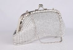 Hot Crystal Shine Girls Wedding Accessories Hand Bags