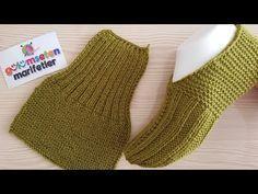 super Ideas for crochet slippers mens knitting patterns Knitting Socks, Knitting Stitches, Knitting Patterns Free, Free Knitting, Baby Knitting, Crochet Baby, Knit Crochet, Crochet Patterns, Knitted Slippers
