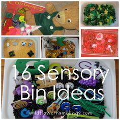 16 Sensory Bin Ideas - Wildflower Ramblings