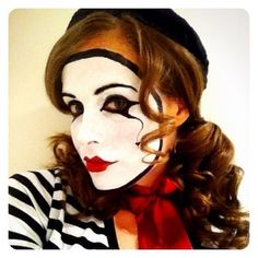 My mime #circus #mime #makeup #facepaint #paint #marcel #marceau #french #performer #party #costume #cool #blackandwhite #dressups #theme #facepainting #diy #circusgirl (Taken with Instagram)