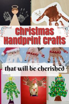 Handprint gifts from kids can be the most cherished through the years! Enjoy this list of creative art projects and crafts using a child's handprint. #howweelearn #preschool #handprint #kidsart #kidscrafts #christmascrafts