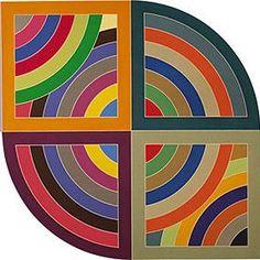 Frank Stella's 'Harran II', 1967 (detail) - Entire work at http://upload.wikimedia.org/wikipedia/en/6/6f/Frank_Stella%27s_%27Harran_II%27%2C_1967.jpg (Frank Stella - Protractor Series by Bo: Thx!)