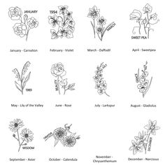 Personalised Embroidered Birth Flower T Shirt – foot tattoos for women Larkspur Flower Tattoos, Birth Flower Tattoos, Flower Tattoo Foot, Small Flower Tattoos, Small Tattoos, August Flower Tattoo, Carnation Flower Tattoo, Daffodil Flower Tattoos, Gladiolus Tattoo