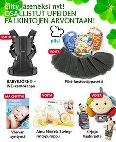 Liity jäseneksi ja Rupattele itsellesi Muumi Baby -pakkaus! Palkintopaketit sisältävät Muumi Baby -vaippapaketin ja Helmi Baby -hoitotuotteita. Yhden palkinnon arvo on noin 20 euroa  http://forum.vau.fi/threads/rupattele-itsellesi-muumi-baby-pakkaus.1586116/