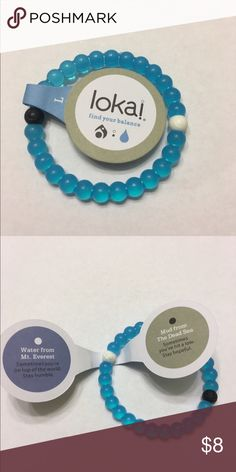 Lokai Bracelet Authentic Blue Large These authentic Lokai bracelets all come with authentic tags and individual packaging. Fast shipping, within 2-business days always! Don't hesitate! The blue edition bracelets were made to celebrate World Water Day.  Colors Available: blue, clear, pink, and shark. Sizes Available: small, medium, and large Lokai Jewelry Bracelets