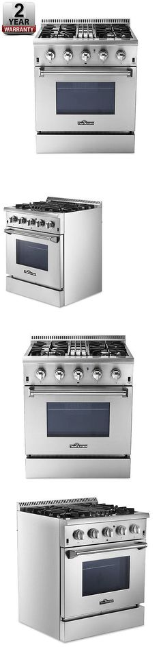 ranges and stoves dual fuel 30 range thor kitchen hrd3088u stainless steel 4