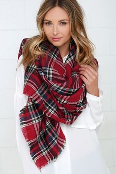 The Scots Honor Red Plaid Scarf shows its loyalty by keeping you stylish and warm