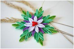 Weihnachtsstern für Weihnachten Winter Deko Lila von Liebeabies auf DaWanda.com