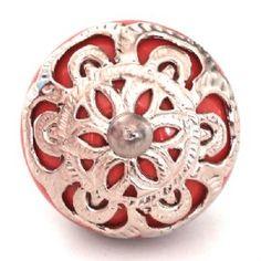 red ornate knob