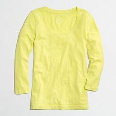 Factory textured jersey scoopneck tee-lemon pulp