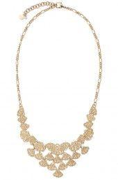Geneve Lace Bib Necklace $138