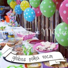 Globos Polka / Polka dot balloons  / COMPRA AQUÍ: www.washitapemexico.com / ventas@washitapemexico.com / Washi Tape México / Cinta Adhesiva para decorar / Productos para fiestas, manualidades y papelería / Bodas y eventos / Fiestas infantiles /