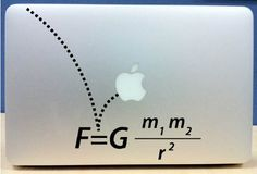 Gravity MacBook Decal/Sticker. Even though I'm a PC I still think these Mac stickers are clever.