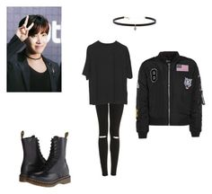 """J Hoooope!♡"" by softkitten3 on Polyvore featuring Topshop, Dr. Martens and Carbon & Hyde"