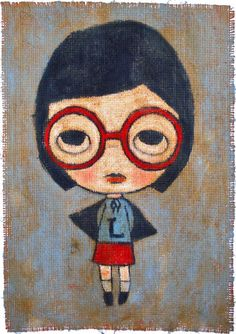 """'Lonely Girl' by Christina Gordon. Hank saw this and said, """"It's a superhero mother."""""""